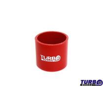 Szilikon összekötő, egyenes TurboWorks Piros 114mm 8cm